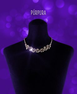 Collar Swarovski facetado modelo Praga color plata